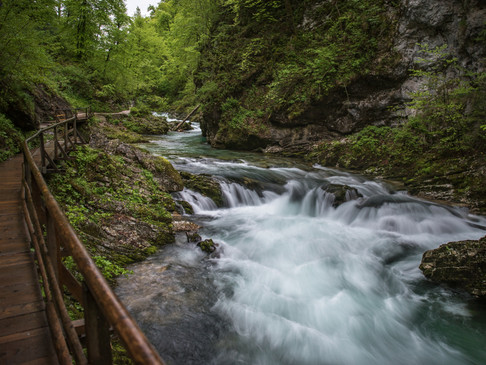 Rapids in Vintnar Gorge, Slovenia