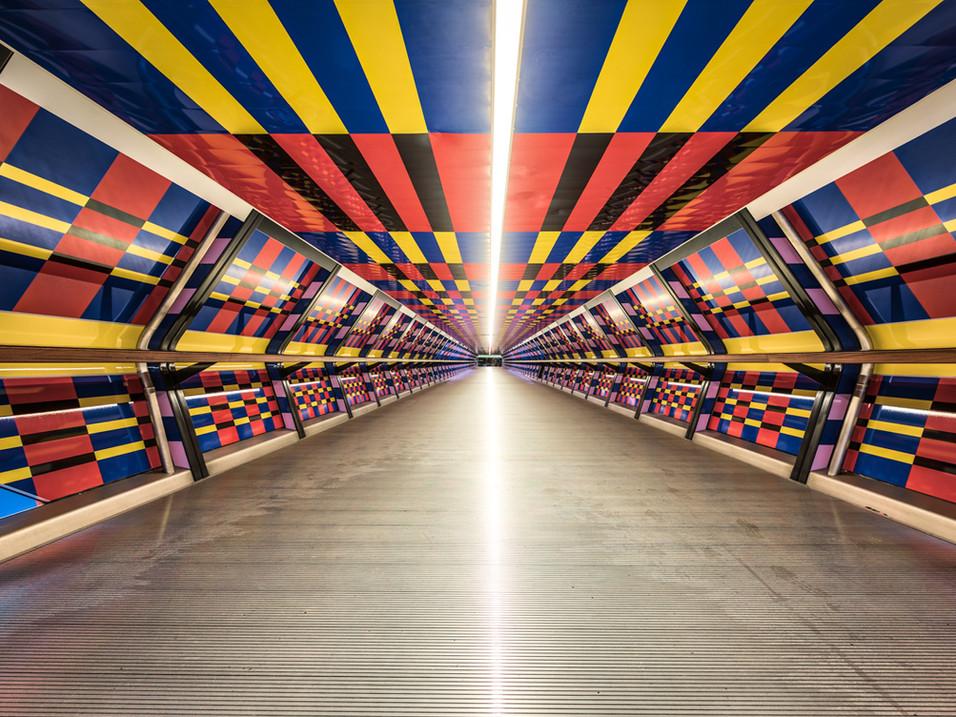 Colourful art installation in Adam's Bridge