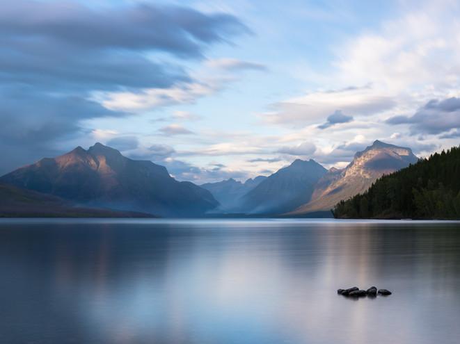 Still waters on Glacier Lake