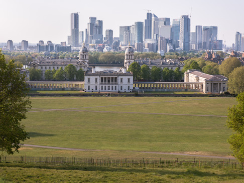 An empty Greenwich Park in Lockdown