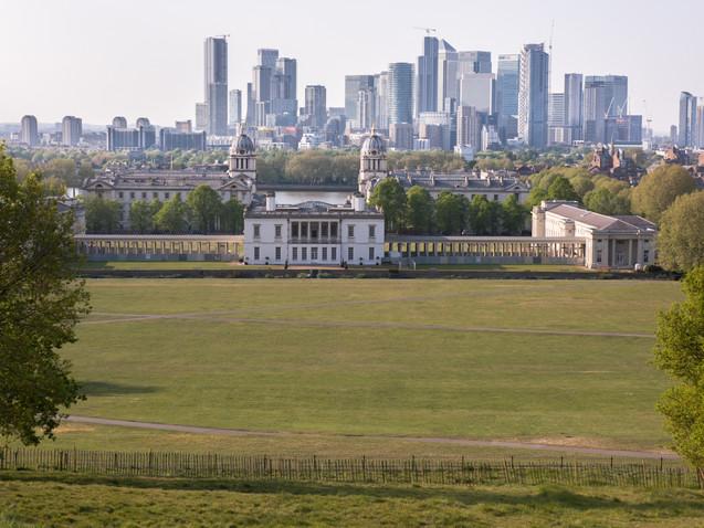 An empty Greenwich Park in Lockdown