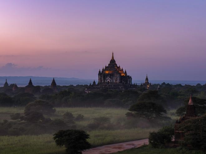 Ananda Pagoda at night, Bagan, Myanmar