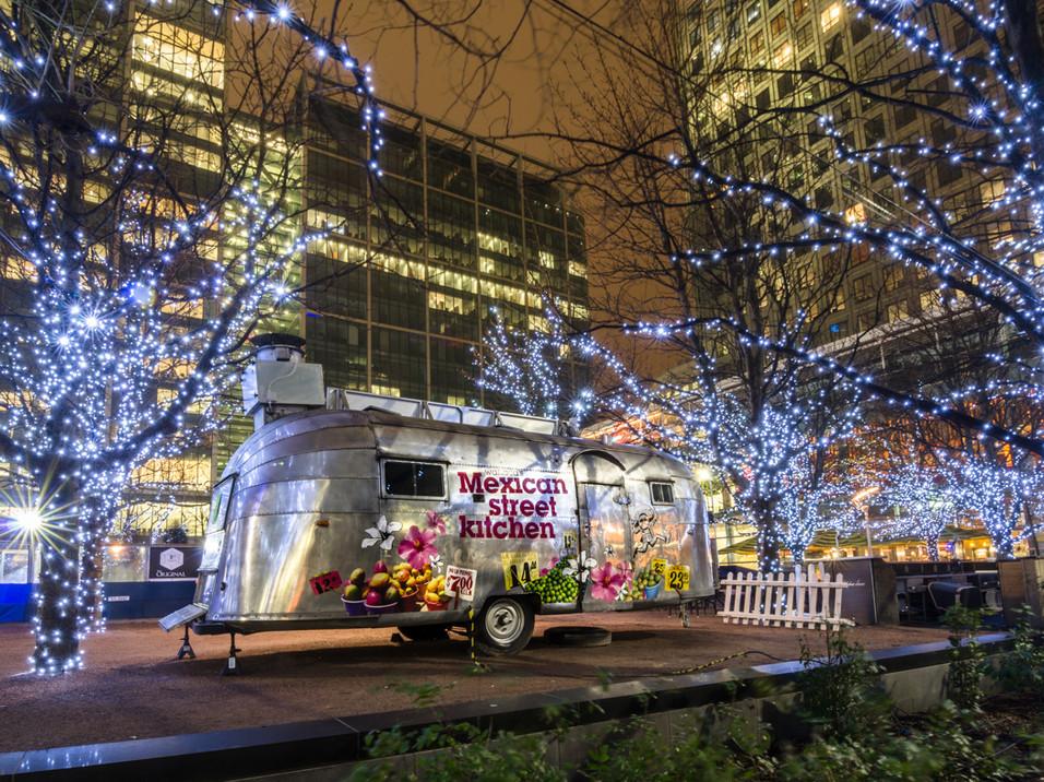 Food van at Canary Wharf