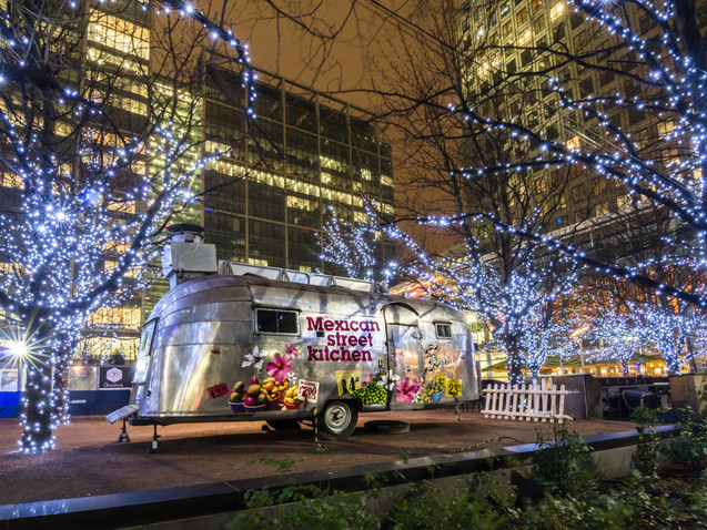 Food van at Canary Wharf
