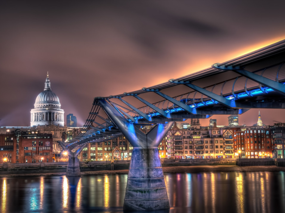 The Bridge to St Paul's Cathedral, London