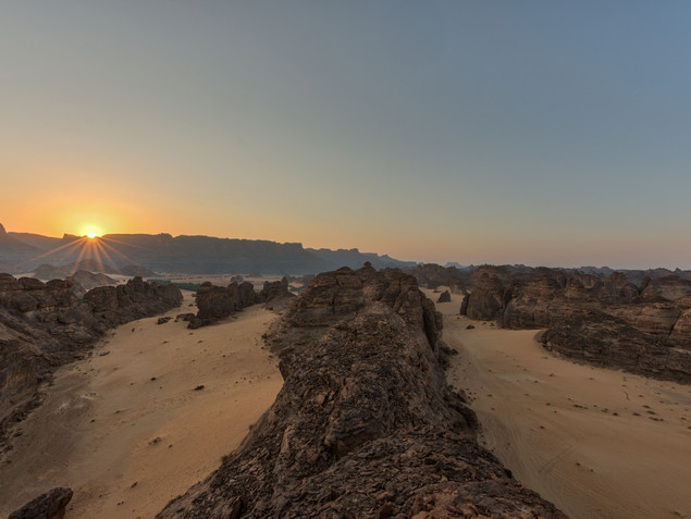 High on the mountains at Wadi Al Fann
