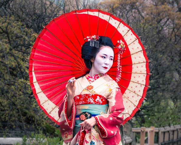 Beautiful Japanese geisha