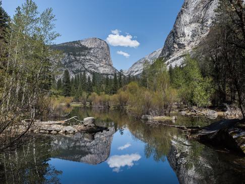 The aptly named Mirror Lake in Yosemite