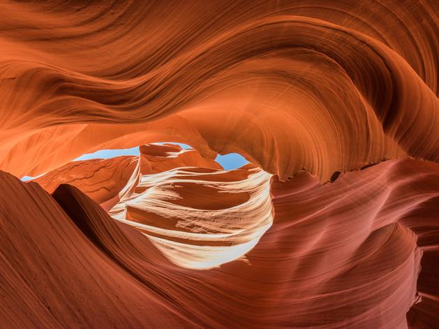Looking up through Antelope Canyon.jpg