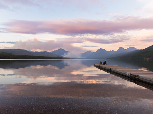 Watching the forest fires across Glacier National Park