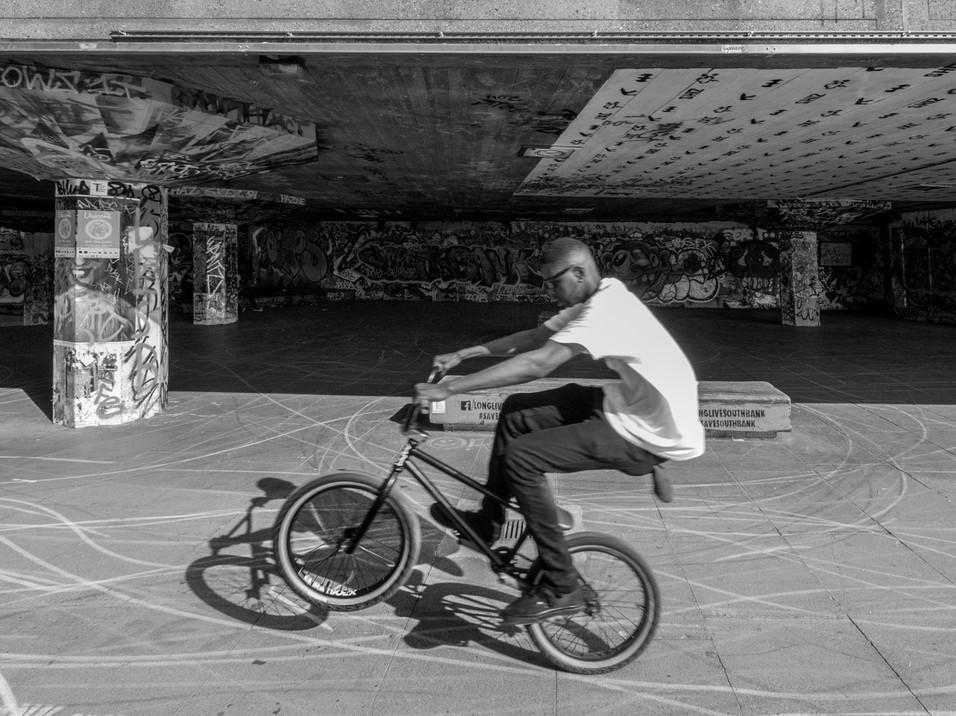 BMX boy in the skate park