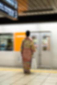 Waiting to board the train, Tokyo.JPG