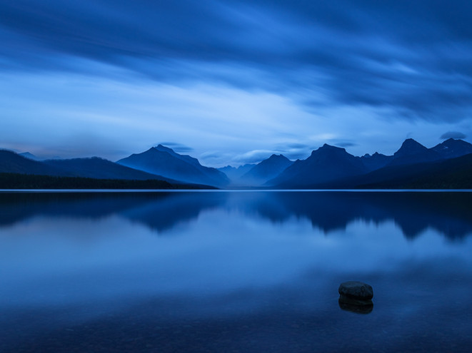 Midnight at Glacier Lake