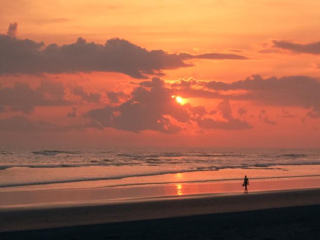 Sunset stroll in Costa Rica