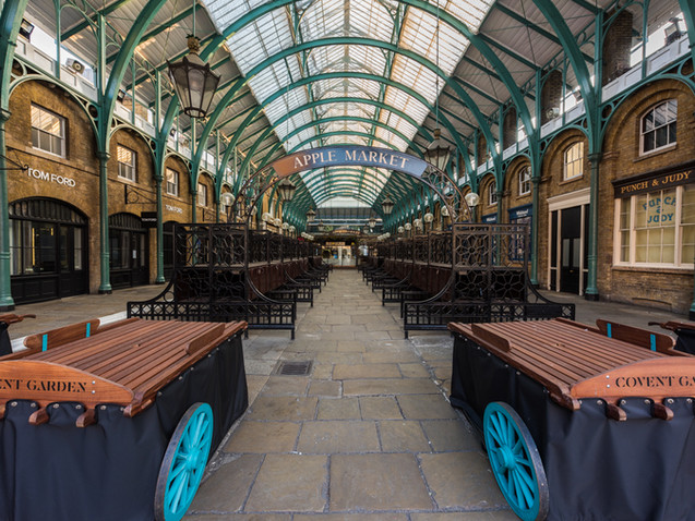 Covent Garden market empty during Lockdown