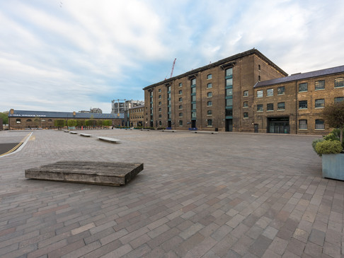 Granary Square, Kings Cross, in Lockdown