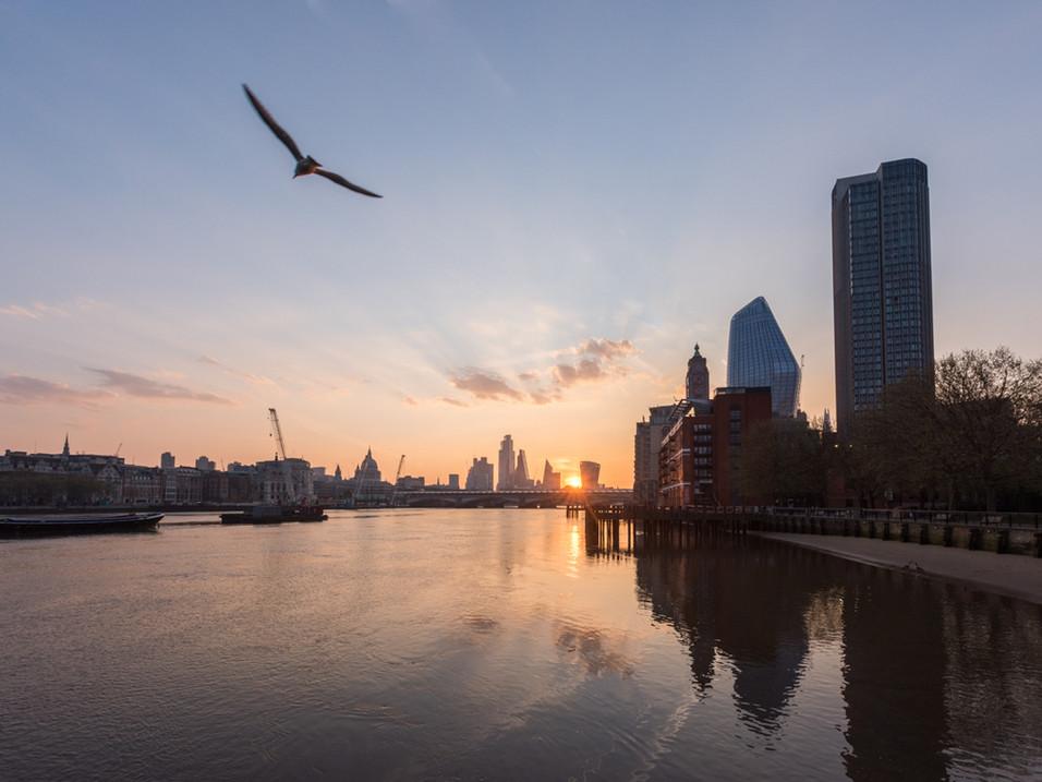 Lockdown sunrise over the City