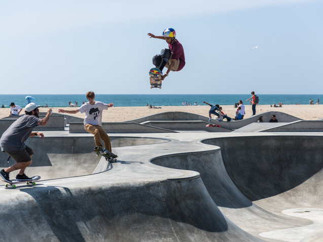 Venice Beach skateboarders, Los Angeles