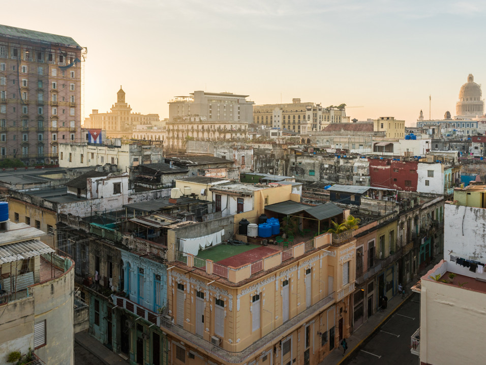 Looking out over Havana
