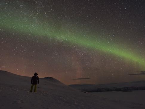 Watching the aurora in Abisko, Swedish Lapland