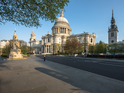 St Paul's Cathedral, empty during Lockdown
