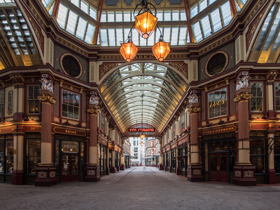 Leadenhall Market, London, in Lockdown