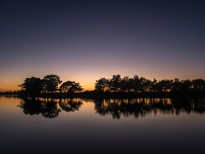Hatchet Pond, New Forest, at dusk