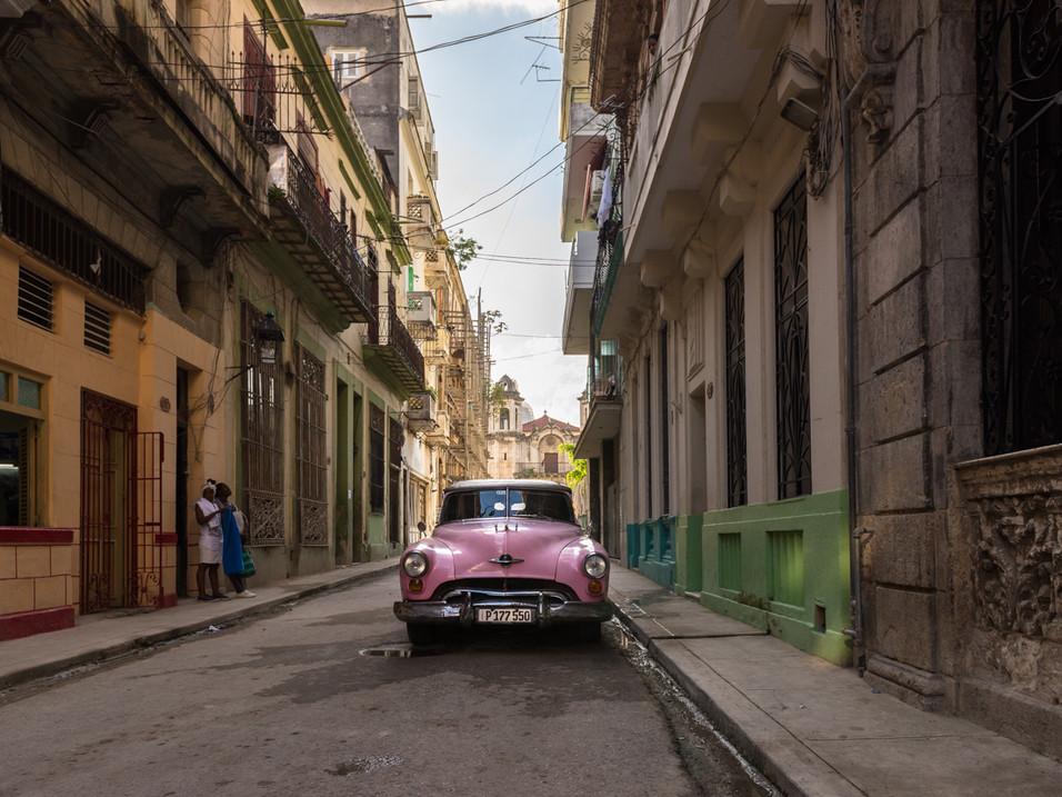 Beautiful pink Cadillac in Havana