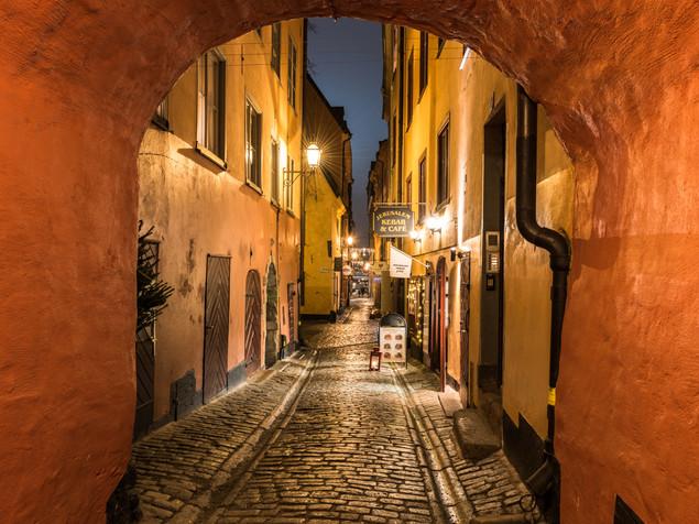 Cobbled street in Stockholm