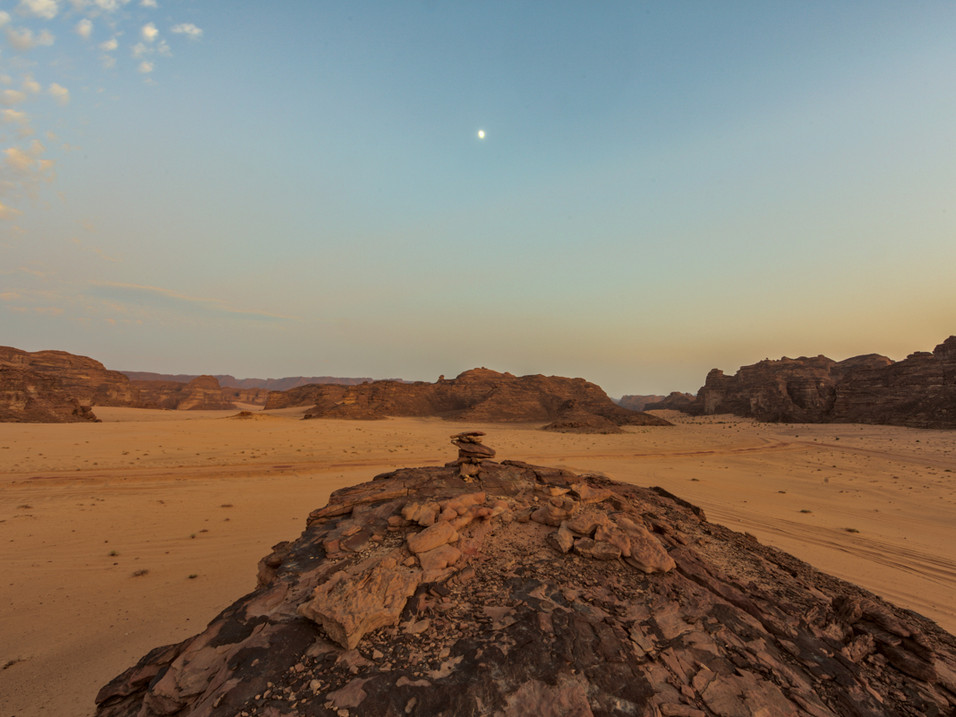 The moon over Wadi Al Fann