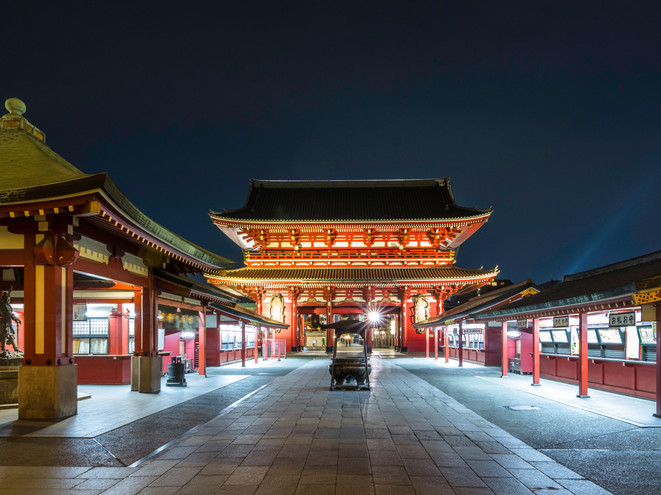 Asakusa Kannon Temple at night