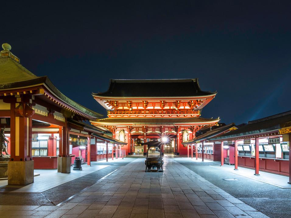 Asakusa Kannon Temple at night