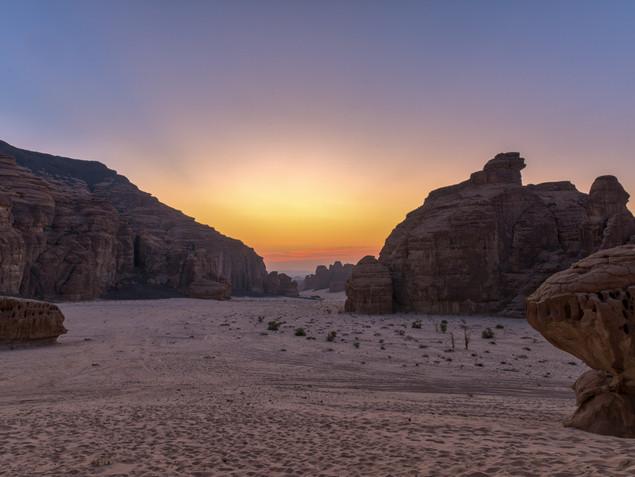 Morning light in Alula, Saudi Arabia