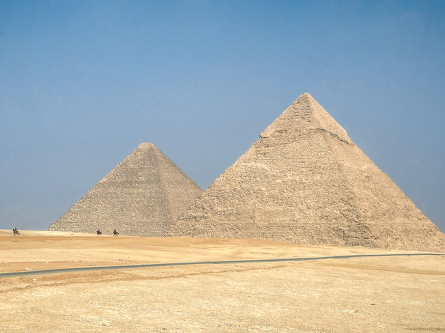 Riding away from the Pyramids of Giza.jp