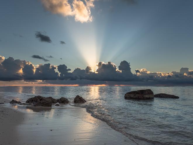 Sunburst over Cayman Brac