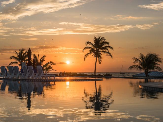 Sunrise reflections, Cayman Brac