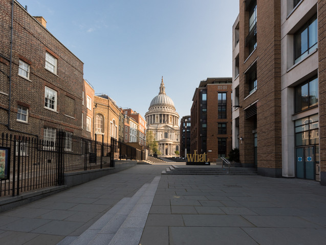 Looking back towards St Paul's Cathedral