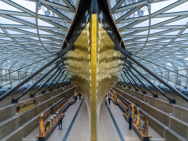 The Cutty Sark from beneath