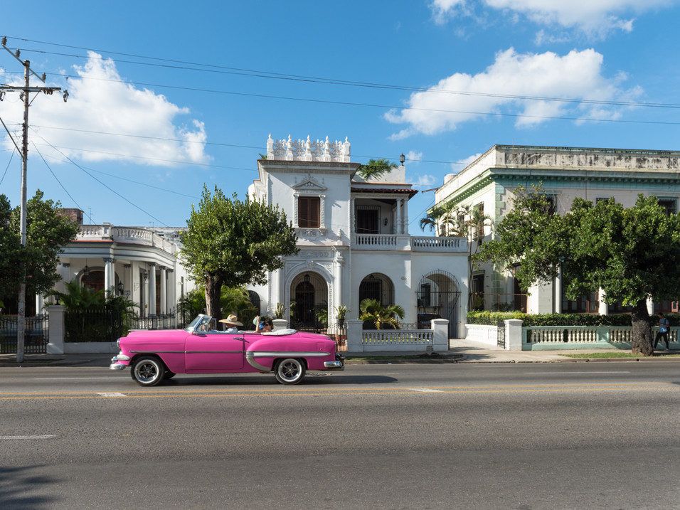 Colourful cars and old houses in Havana