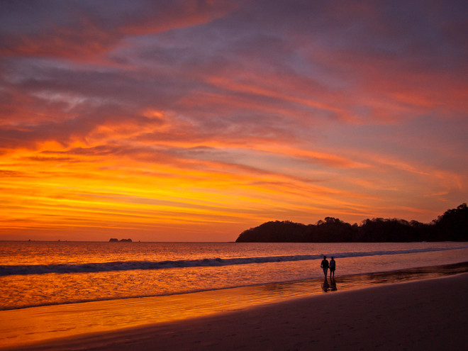 Costa Rican sunset stroll