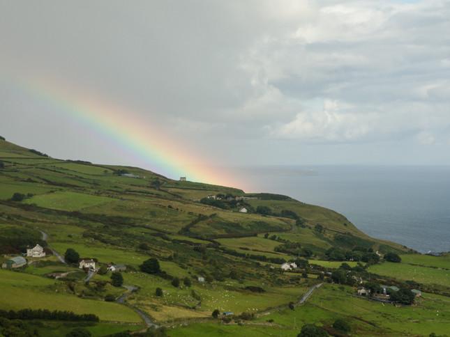 Rainbow over  Northern Ireland