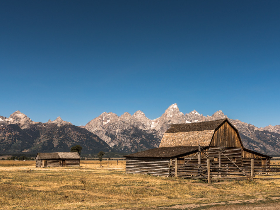 Old wooden farm in Yellowstone National