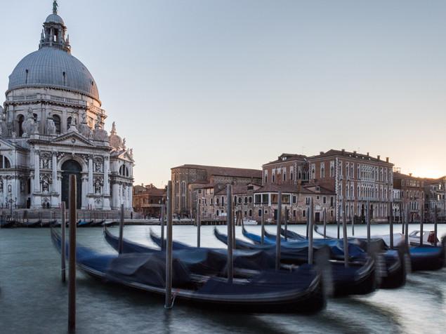 Gondolas in front of St. Mark's Basilica, Venice