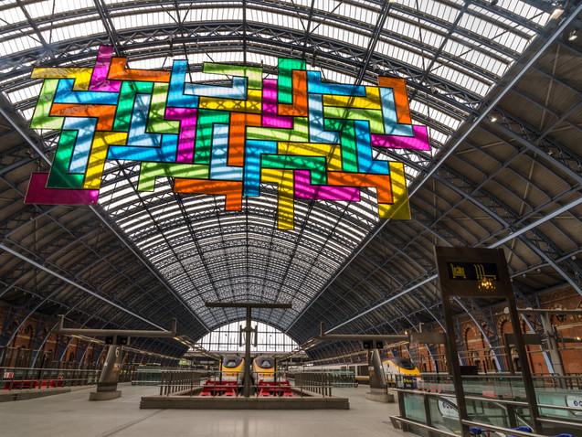 Eurostar Tetris art installation