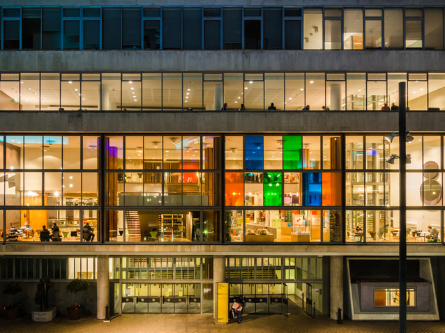 The colourful windows of the Southbank Centre