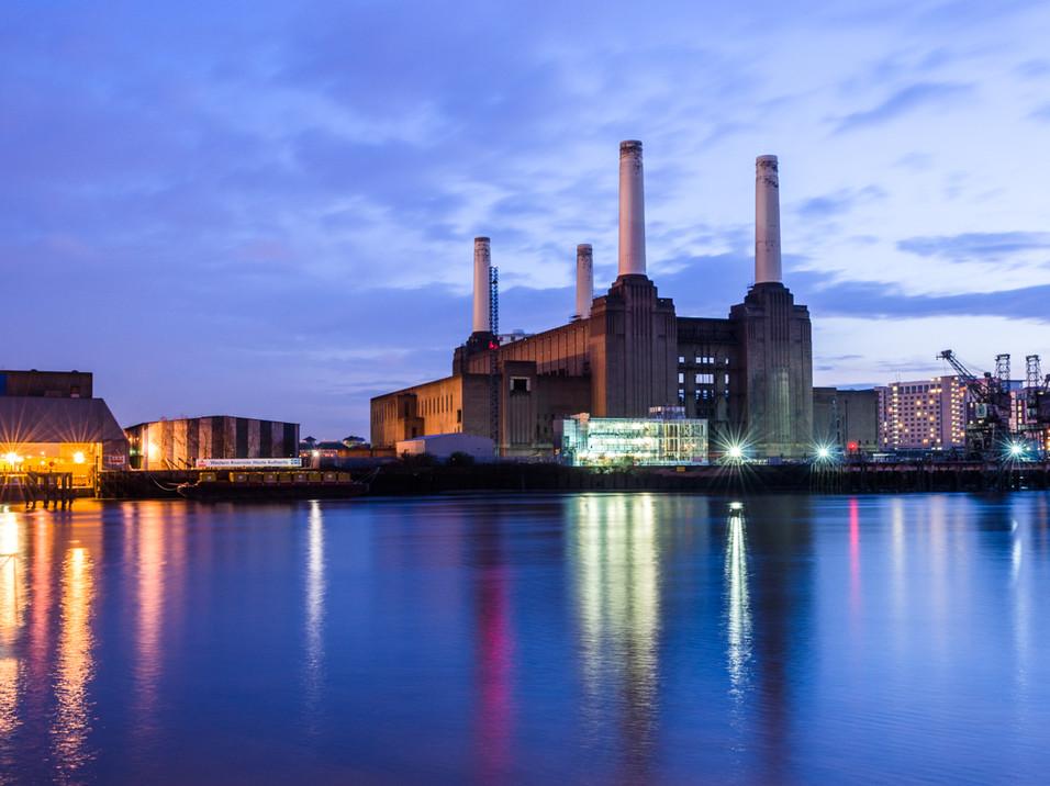 Battersea Power Station at dusk
