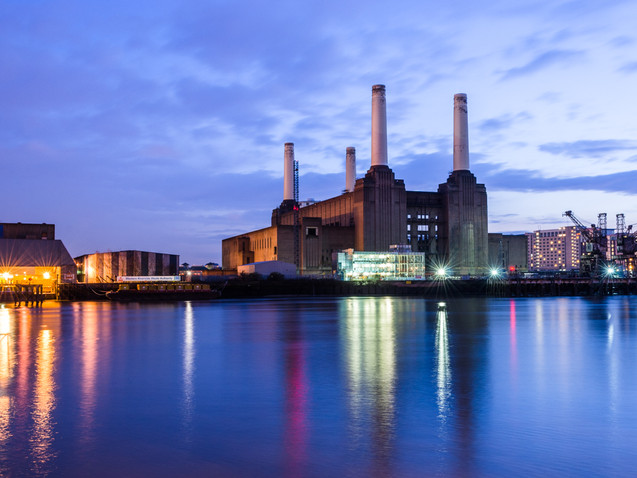 Battersea Power Station at dusk