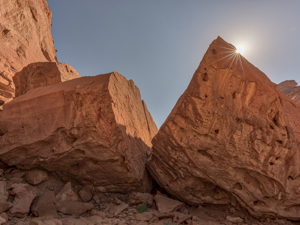 Cracked rock, Wadi Al Fann, Saudi Arabia
