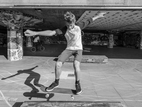 Shadows in the skate park