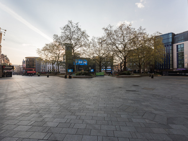 Leicester Square in Lockdown